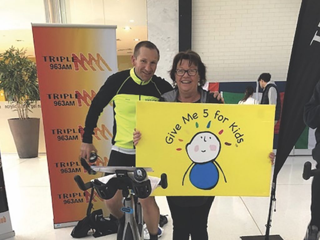 12-hour bike ride for gove me 5 for kids charity with Jason Austin.